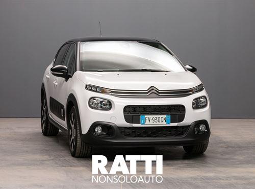 CITROEN C3 PureTech 1.2 110CV S&S EAT6 SHINE Bianco cambio Automatico Benzina Usato ritirato berlina due volumi 5 porte 5 posti EURO 6