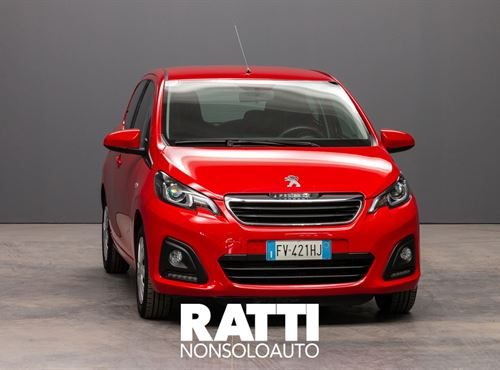 PEUGEOT 108 VTi 1.0 72CV 5P. Active ROSSO SCARLET cambio Manuale Benzina Aziendale berlina due volumi 5 porte 4 posti EURO 6